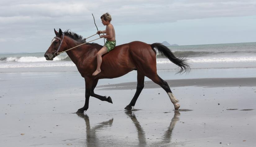 Boy on horse - bareback (1 of 1)