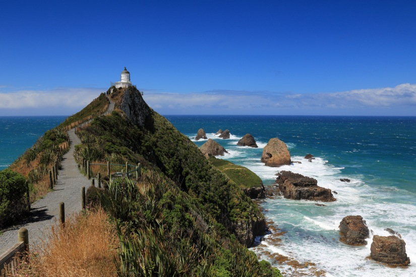 walking up to nugget point