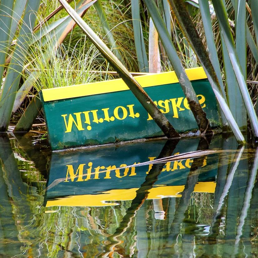Mirror Lake sign