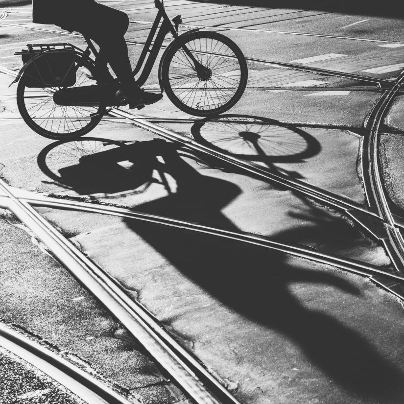 Amsterdam - girl on bike_edited