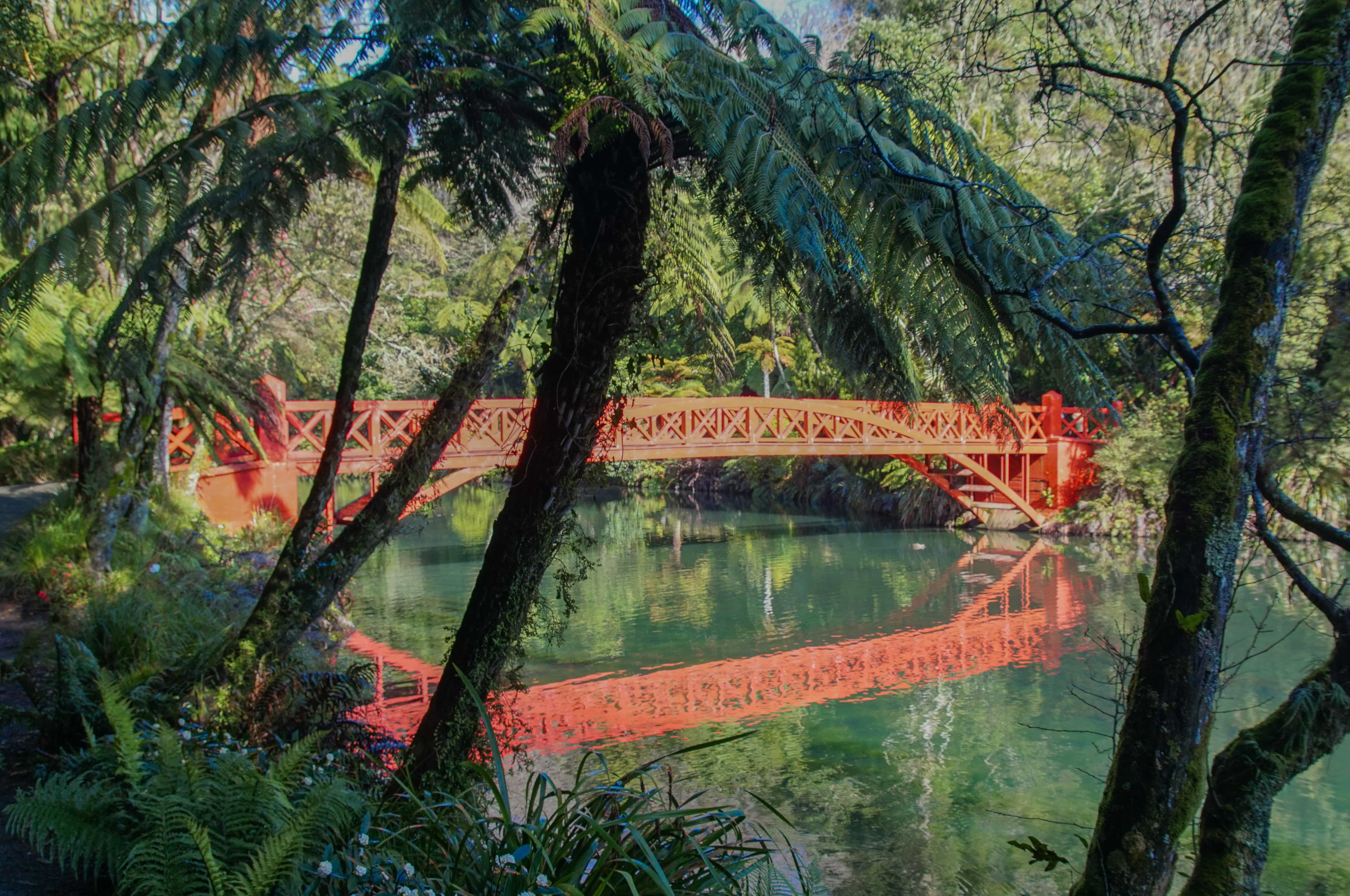 The red bridge in the park_edited