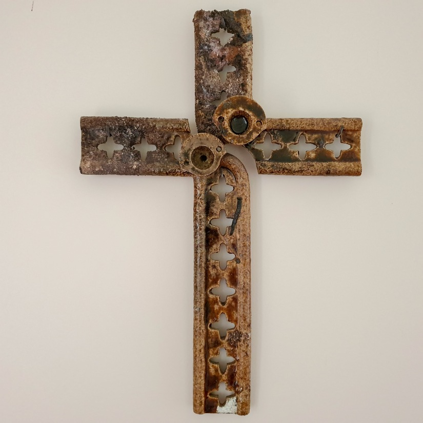 Mission Estate cross on wall