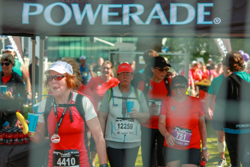 Me having powerade - Auckland Marathon 2012